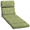 Garden Treasures Green Stencil Green Stencil Floral Cushion For Chaise Lounge