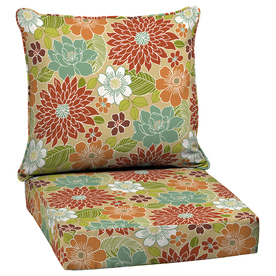 Shop Floral Multi Deep Seat Patio Chair Cushion at Lowes