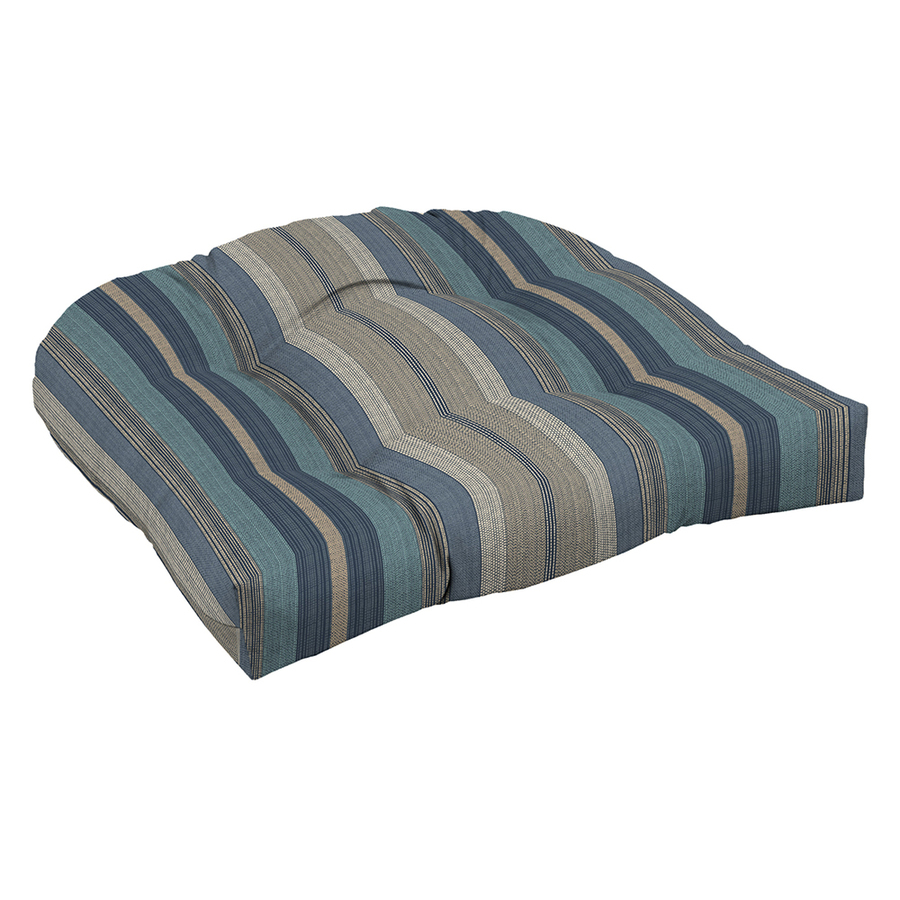 Shop Arden Outdoor Stripe Blue Patio Chair Cushion At