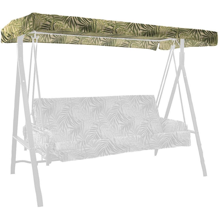 shop north palm leaf 3 person replacement top for porch