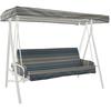 allen + roth Blue Stripe Cushion For Porch Swing