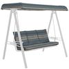 allen + roth Stripe Blue Cushion for Porch Swing