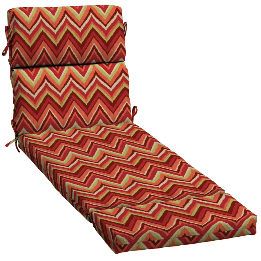 Shop Garden Treasures Red Flame Stitch Patio Chaise Lounge