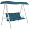 Arden Outdoor Blue Flame Solid Blue Flame Solid Solid Cushion For Porch Swing