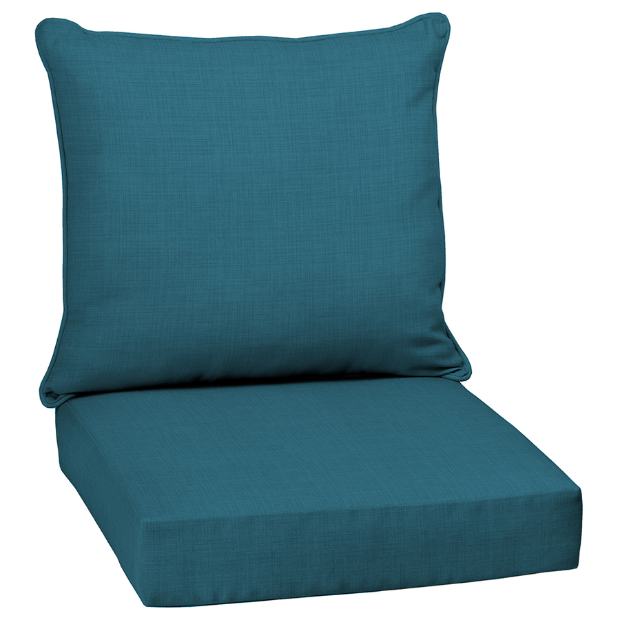 solid flame stitch solid deep seat patio chair cushion at
