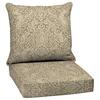 Garden Treasures Neutral Stencil Glenlee Paisley Cushion for Deep Seat Chair