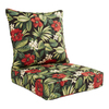 Garden Treasures Black Floral Glenlee Black Floral Tropical Cushion For Deep Seat Chair