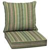 allen + roth Multi Eucalyptus Multi Eucalyptus Stripe Cushion For Deep Seat Chair