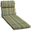 allen + roth Multi Eucalyptus Multi Eucalyptus Stripe Cushion For Chaise Lounge