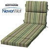 allen + roth Multi Eucalyptus Stripe Cushion for Chaise Lounge