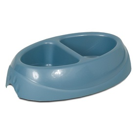 Aspen Pet Multicolor Plastic Double Basin Pet Bowl