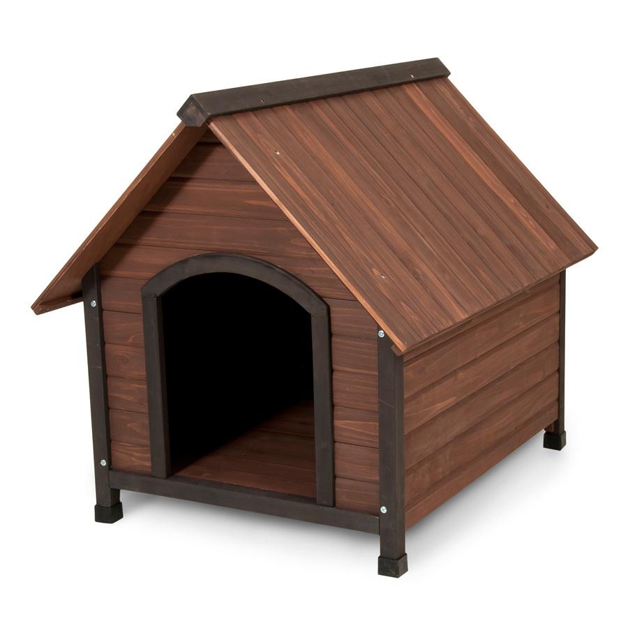 shop aspen pet 2 86 ft x 2 65 ft x 3 21 ft cedar dog house at lowes