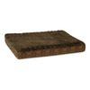 Doskocil Brown Plush Poly Rectangular Dog Bed