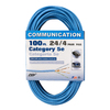 Coleman Cable 100-ft 24/4 CAT 5E Blue Data Cable