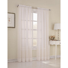 Style Selections High Twist Voile 84-in L Light Filtering Solid Eggshell Rod Pocket Window Sheer Curtain