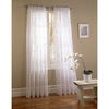 Style Selections 95-in L White High Twist Voile Sheer Curtain