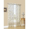 Style Selections 84-in L Light Filtering Floral Antique Rod Pocket Window Sheer Curtain