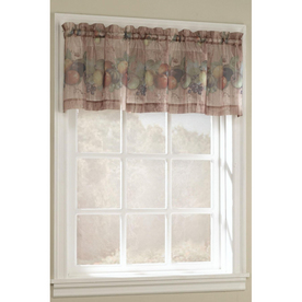 Style Selections 17-in L Multicolor Fruitgrove Tailored Valance