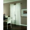 allen + roth Williamston 84-in White Polyester Rod Pocket Light Filtering Single Curtain Panel