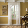 Style Selections Cecelia 84-in Ivory Polyester Rod Pocket Light Filtering Sheer Single Curtain Panel