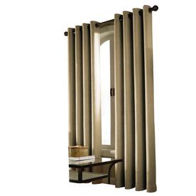 allen + roth Milton 84-in L Solid Linen Grommet Curtain Panel