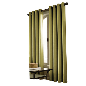 allen + roth 84-in L Moss Curtain Curtain Panel
