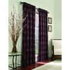allen + roth 84-in L Plum Roselle Curtain Panel