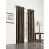 allen + roth 63-in L Blackout Striped Brown Thermal Grommet Window Curtain Panel