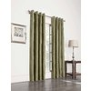 allen + roth 63-in L Blackout Striped Olive Thermal Grommet Window Curtain Panel