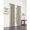 allen + roth 63-in L Blackout Striped Straw Thermal Grommet Window Curtain Panel