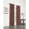 allen + roth 63-in L Blackout Striped Wine Thermal Grommet Window Curtain Panel