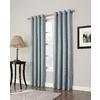 allen + roth 63-in L Blackout Geometric Sky Blue Thermal Grommet Window Curtain Panel