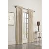 allen + roth 63-in L Room Darkening Geometric Ivory Thermal Rod Pocket Window Curtain Panel