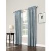 allen + roth 63-in L Room Darkening Geometric Mineral Thermal Rod Pocket Window Curtain Panel