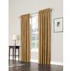 allen + roth 63-in L Room Darkening Geometric Gold Thermal Rod Pocket Window Curtain Panel