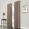 allen + roth TAVENTRY 84-in L Room Darkening Geometric Linen Thermal Grommet Window Curtain Panel