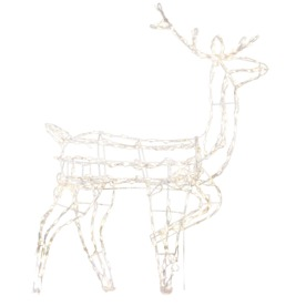 Holiday Living 5-ft Lighted Reindeer Freestanding Sculpture Outdoor Christmas Decoration with White Incandescent Lights