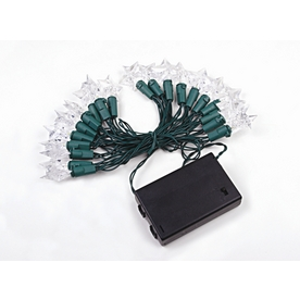 Shop Holiday Living 20-Count White Twinkling LED Battery-Operated Christmas String Lights at ...