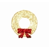 Holiday Living 3-ft Plastic 150-Light White Christmas Wreath