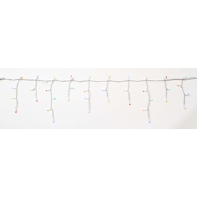 Holiday Living 100-Count LED Dome Multicolor Christmas Icicle String Lights ENERGY STAR