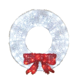 Holiday Living 3-ft Plastic White LED Christmas Wreath