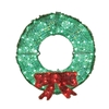 Holiday Living 3-ft Plastic Green LED Christmas Wreath