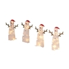 Holiday Living 4-Pack 1-ft Plastic 72-Light Frosty Snowman Twinkling Christmas Pathway Lights