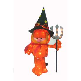 30 Inch 70 Light Soft Tinsel Halloween Devil Garfield