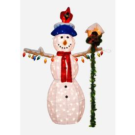Holiday Living 4.5-ft Tinsel Christmas Snowman