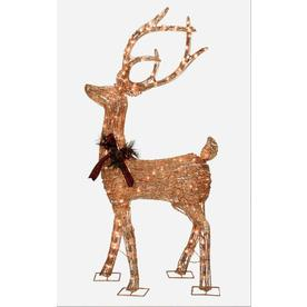 Holiday Living 5-ft Christmas Grapevine Deer with 200-Lights