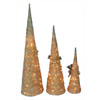 Holiday Living Set of 3 Grapevine Cone Christmas Trees