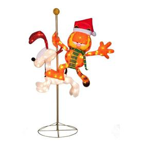 Holiday Living 4-ft Tinsel 140-Light Soft Tinsel Garfield and Odie Christmas Holiday Decoration