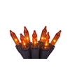 100-Count Indoor/Outdoor Constant Orange Mini Halloween String Lights