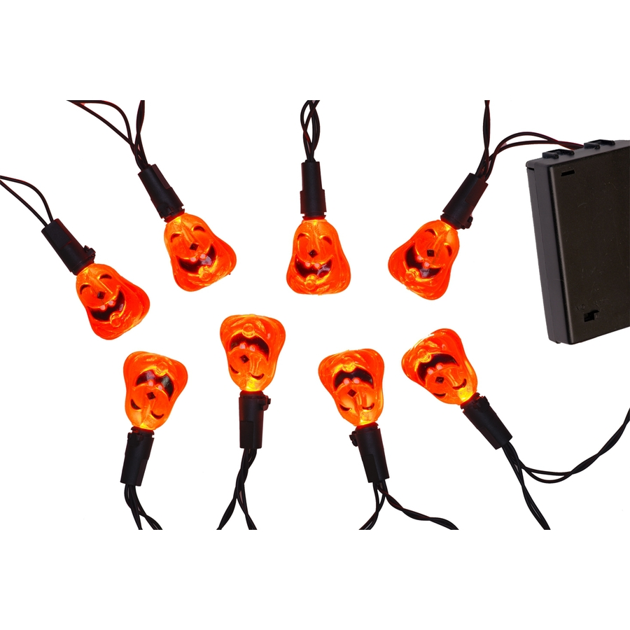 Halloween String Lights Indoor : Shop 20-Count Indoor Constant Orange LED Novelty Halloween String Lights at Lowes.com